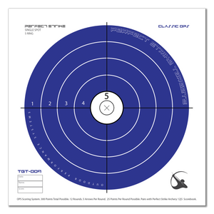 "Perfect Strike ARCHERY System Targets. CLASSIC OPS No. 009. Single Spot Targets. Heavy paper practice targets. Great for improving accuracy. 12"" x 12"". (24 Targets.)"