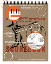Perfect Strike Softball SCOREBOOK with Rules and Scoring Instructions : Heavy Duty. Great for Youth and Adult Softball.