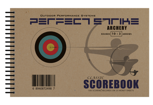 Perfect Strike Archery SCOREBOOK with Rules and Scoring Instructions : Heavy Duty. Great for Practice and Competition. 10Round/3Arrow Scoresheets.