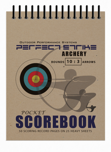Perfect Strike Archery SCOREBOOK with Rules and Scoring Instructions. 10:3