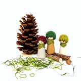 Woodland mushrooms peg dolls pretend play, make believe, peg people, story teller, Waldorf toy, woodland creatures, ready to ship