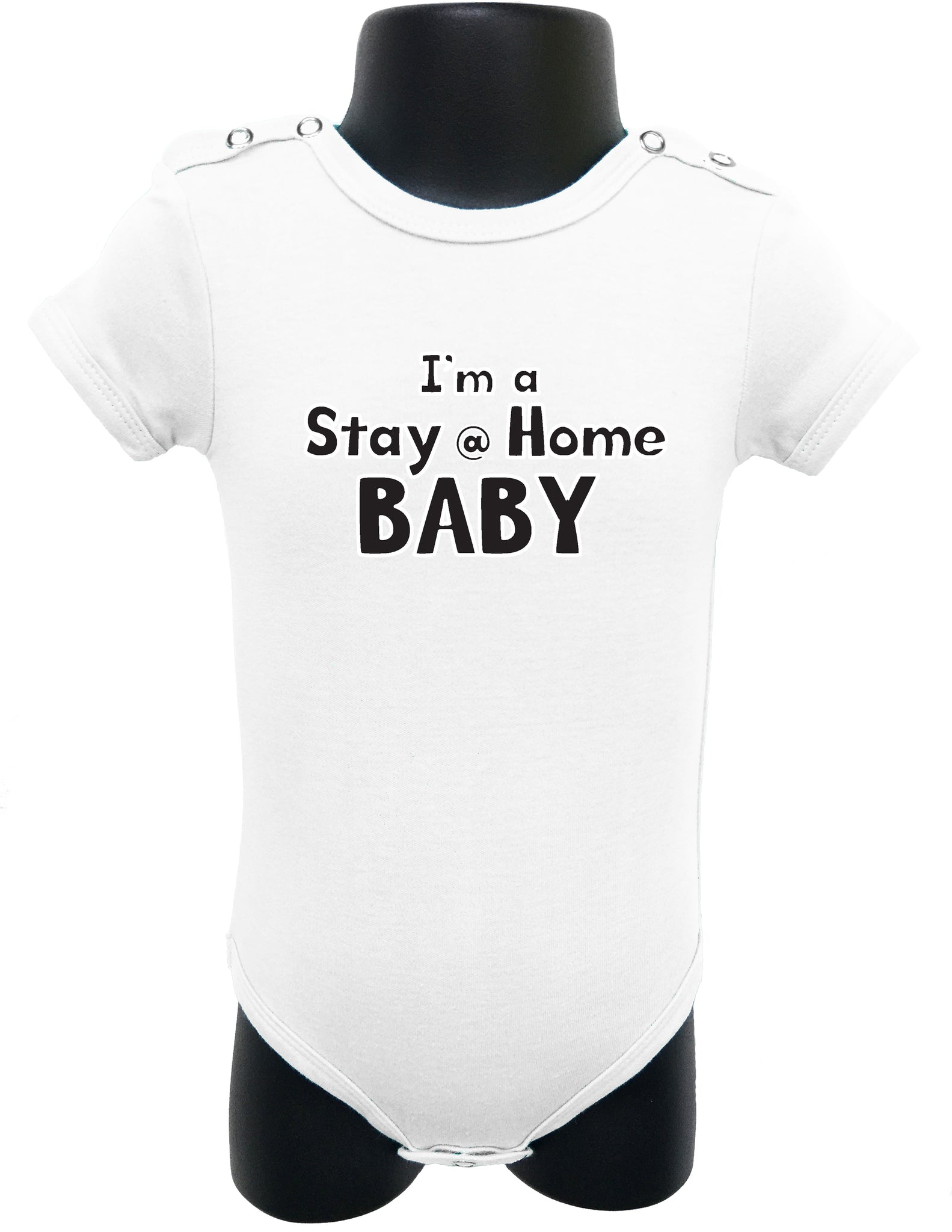 I\'m a Stay at Home Baby graphic design baby bodysuit – Allure & Grace