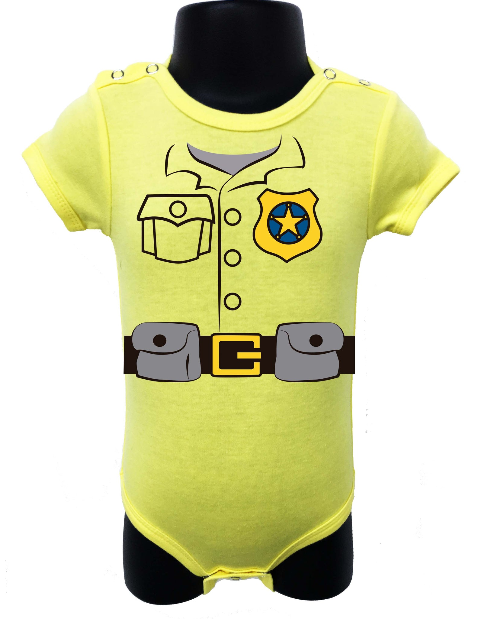 Police Job graphic design baby bodysuit – Allure & Grace