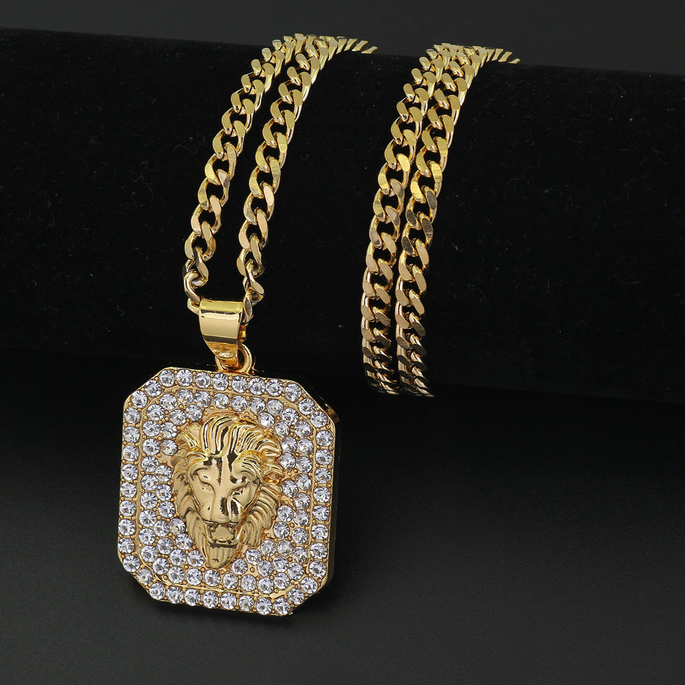 Iced Out Lion Head Pendant