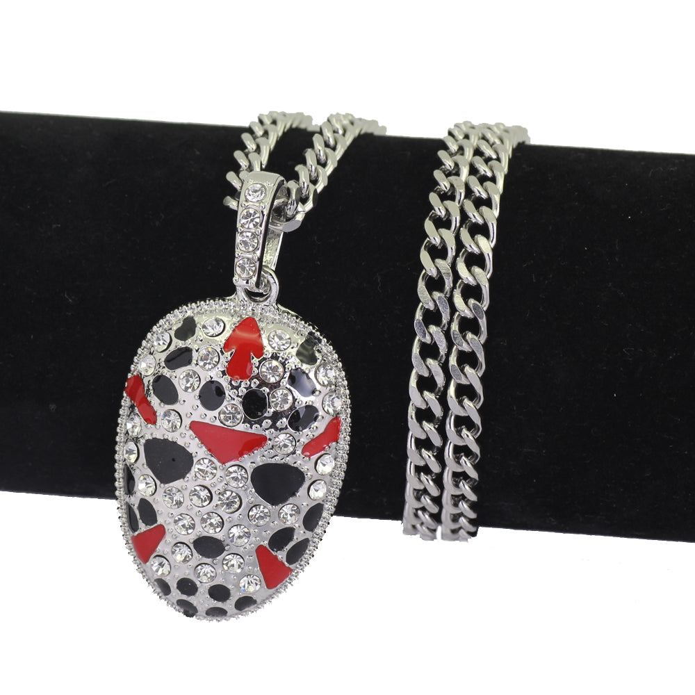Friday the 13th Jason 5mm 24inch Stainless Steel Cuban Chain