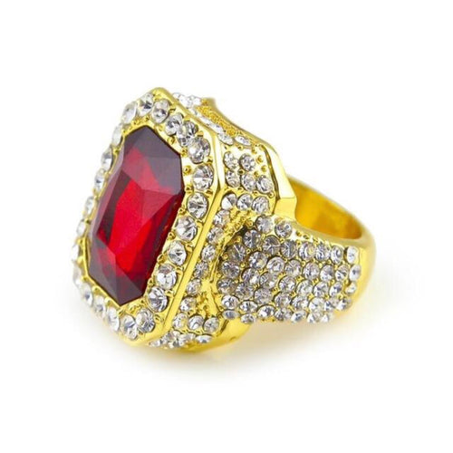 Iced Stone Cz Ring