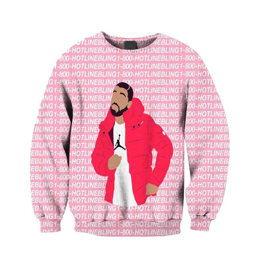 Ovo 1-800 Hotline Bling Crewneck
