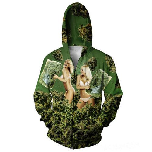 Hot Babez 420 Pillow Pound Fight Hoodie
