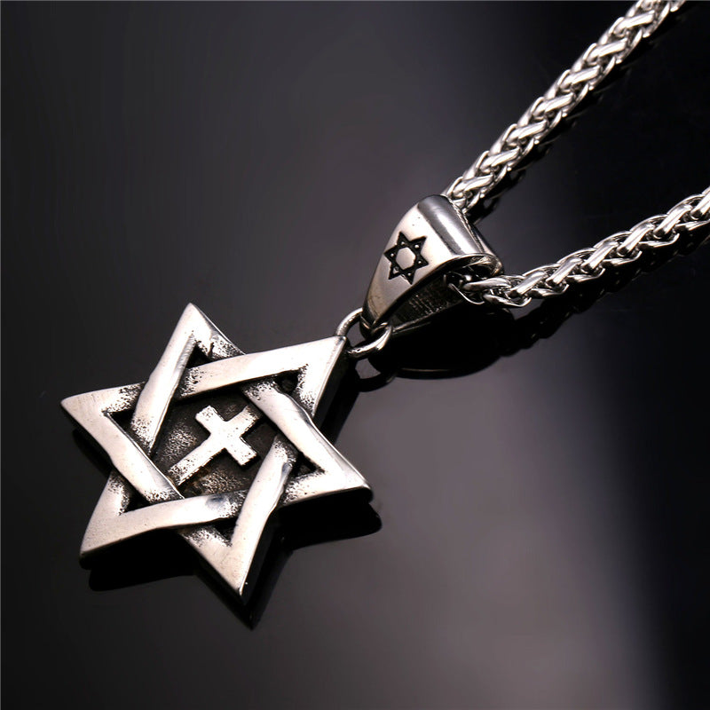 Star of David Cross Chain