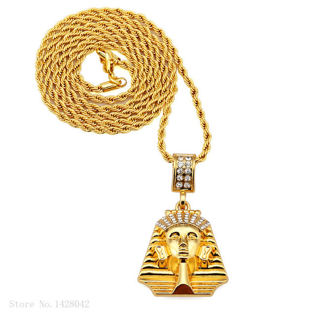 Iced Egypt Pharaoh King chain Necklaces