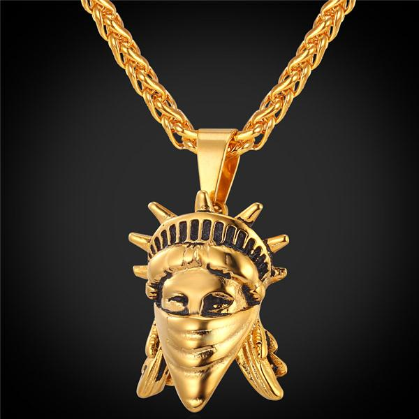 Liberty Fight For Freedom Masked Pendant Necklace