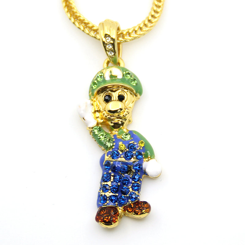Iced Out Lui Chain W/ 24inch Franco Chain