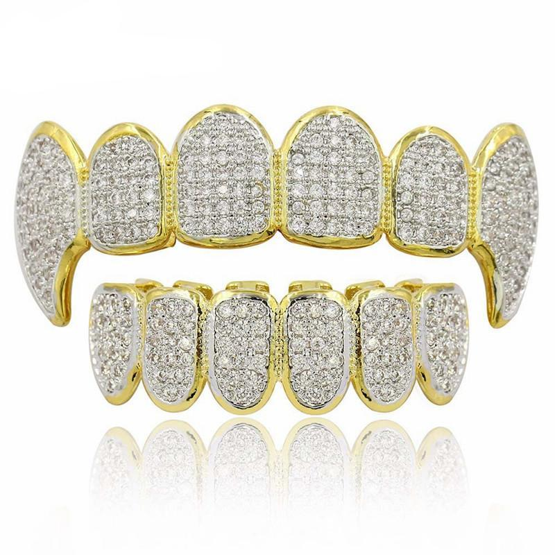 Full CZ Micro Pave Exclusive Luxury Fang Grill