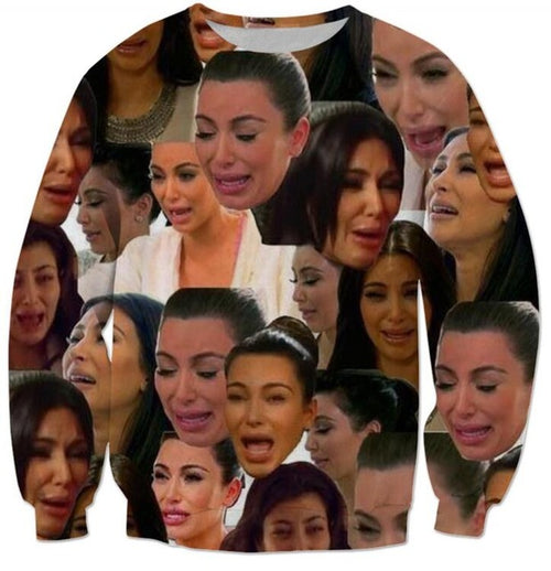 Crying kim kardashian crying meme Crewneck