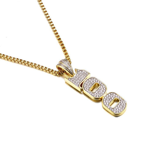 Iced out 2 Row Rhinestone Chain Necklace