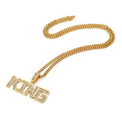 Iced King Pendants W/ Cuban Link Chain