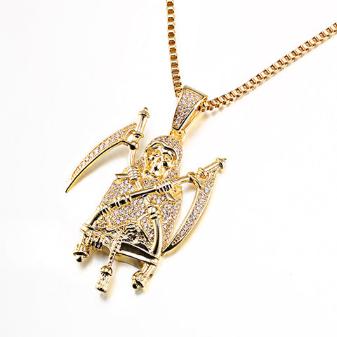 Egyptian Pharaoh Pendant & Chain