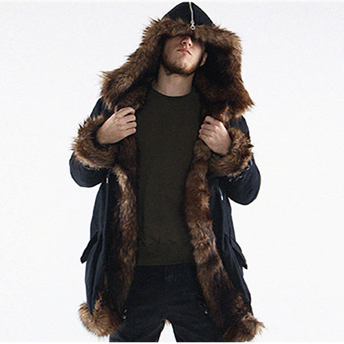 Winter Faux Fur Coat Punk Parka