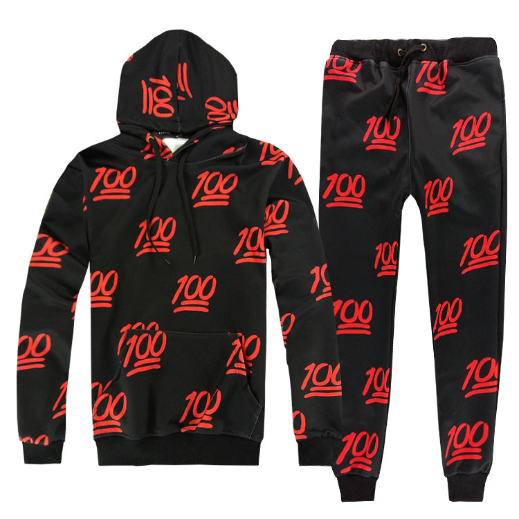 Keep It 100 Tracksuit (black & red)
