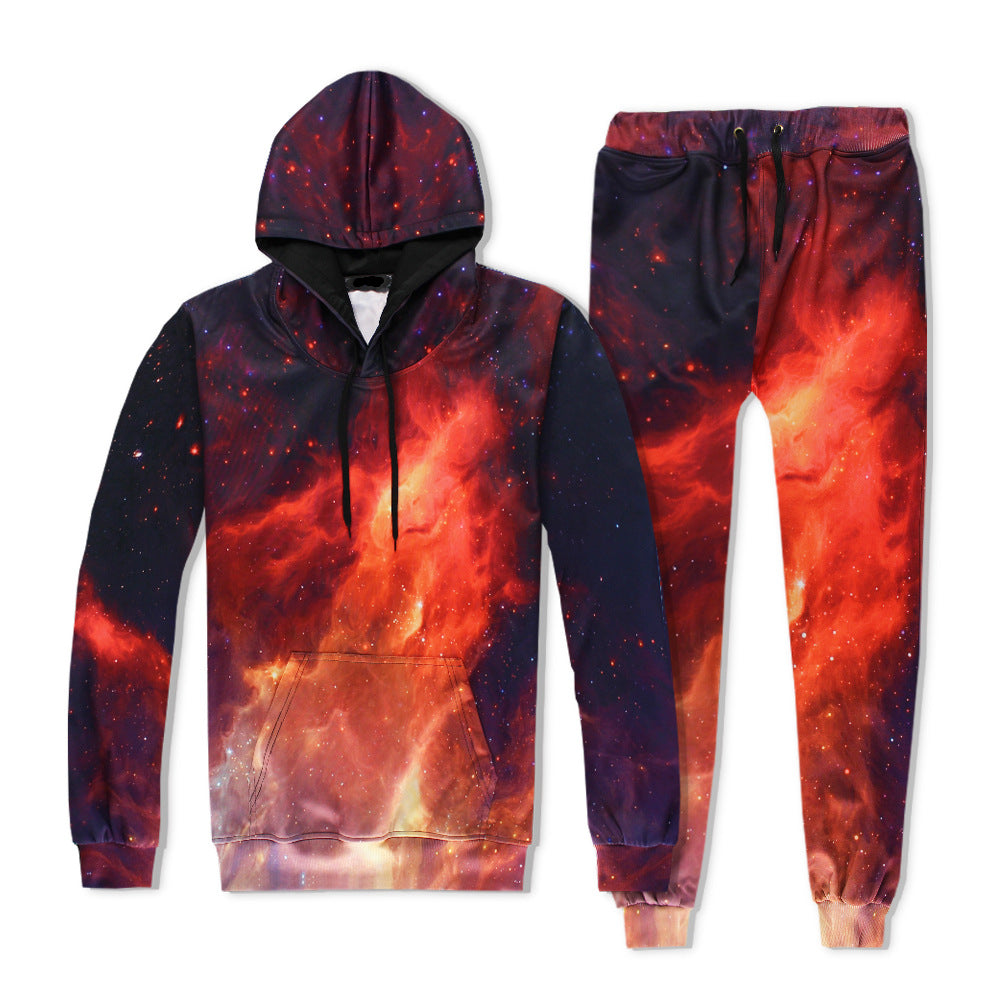Red Fire Space Galaxy Tracksuit