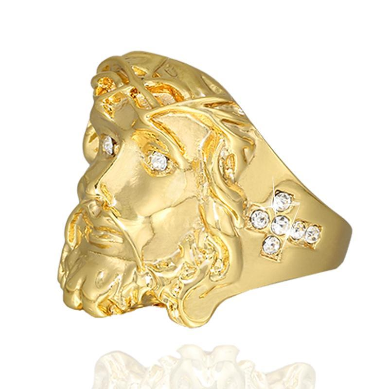 24K Gold Jesus Piece Rings