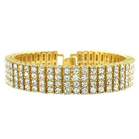 18k Single Row CZ Tennis Bracelet