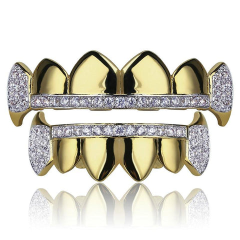 Silver Plated CZ Micro Pave Exclusive Grill