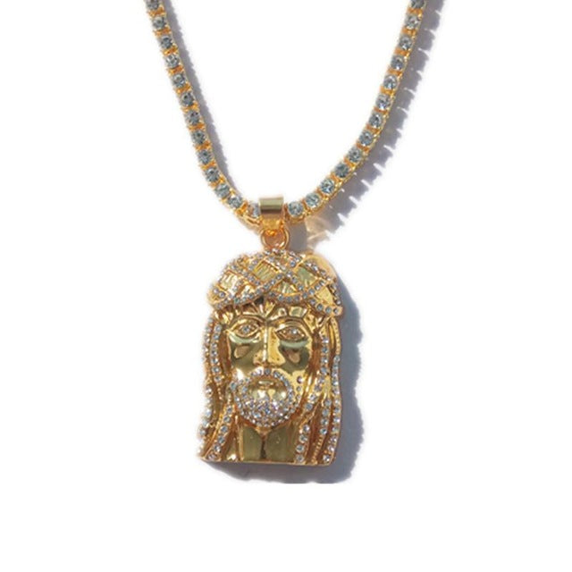 "5mm 24"" Iced Out Jesus Tennis Chain"