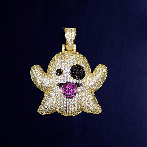 Iced Out SnapChat Emoji Ghost Chain