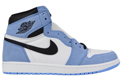 "NIKE AIR JORDAN 1 RETRO HIGH OG ""UNIVERSITY BLUE BLACK"""
