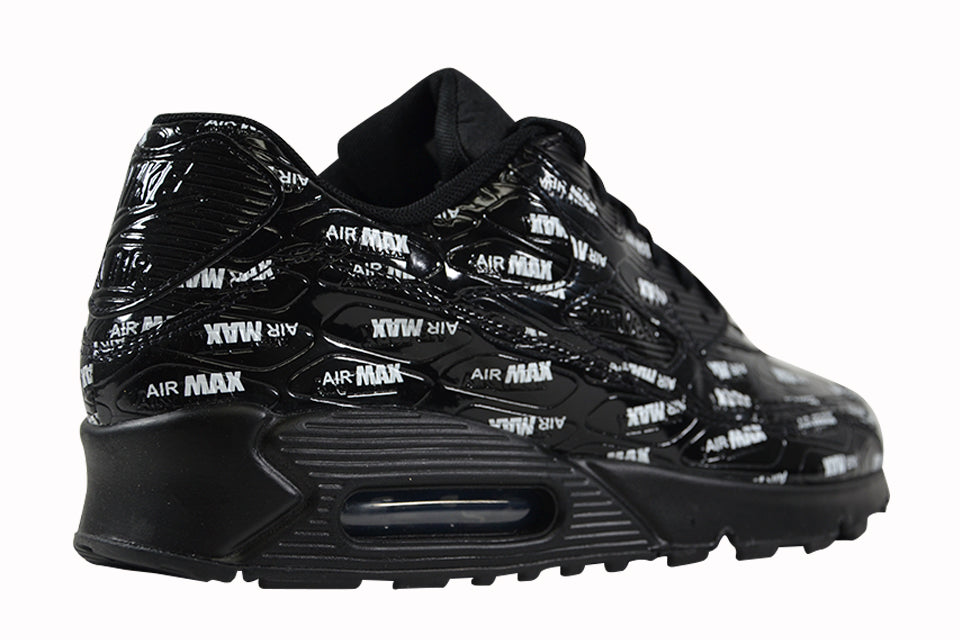 Nike Air Max 90 Premium Mens 700155 015 Black White Running Shoes Size 9.5