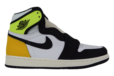 "NIKE AIR JORDAN 1 RETRO HIGH OG ""WHITE BLACK-VOLT UNIVERSITY GOLD"""