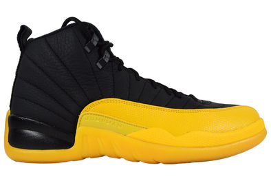 "NIKE AIR JORDAN 12 RETRO ""BLACK UNIVERSITY GOLD"""