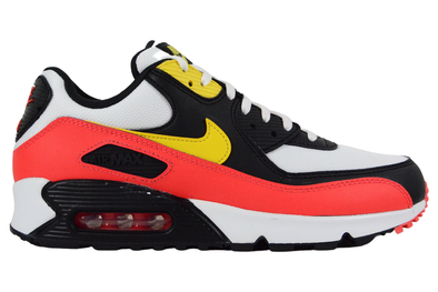 "NIKE AIR MAX 90 ESSENTIAL ""WHITE / CHROME YELLOW / BRIGHT CRIMSON"""