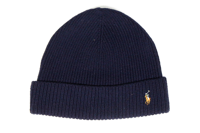 "POLO RALPH LAUREN SIGNATURE PONY WOOL BLEND HAT ""Navy Blue"""