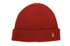 "POLO RALPH LAUREN SIGNATURE PONY WOOL BLEND HAT ""Crimson Red"""