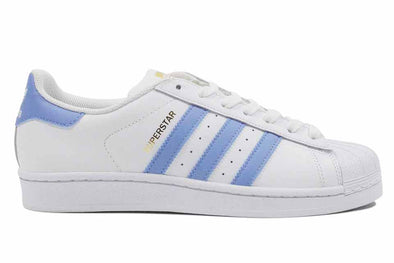 "Adidas Superstar Women's ""White/Light Blue/Gold"""