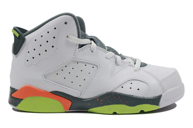 "Air Jordan 6 Retro BP ""White/Green/Hasta"" (PS)"