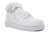 "Nike Air Force 1 Mid (GS) ""White/White"""