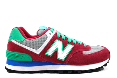 "NEW BALANCE 574 CLASSIC (WMNS) ""Burgundy/Lime Green"""