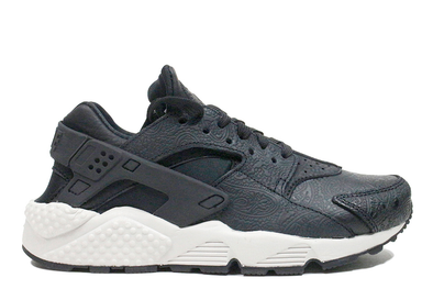 "d2975c983a5 Nike Air Huarache Run Wmns PRM ""Black Black Light Bone"""