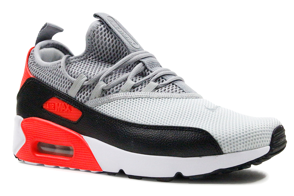 Air Max 90 (gs) infrared Nike 307793 110 whitecmnt gry