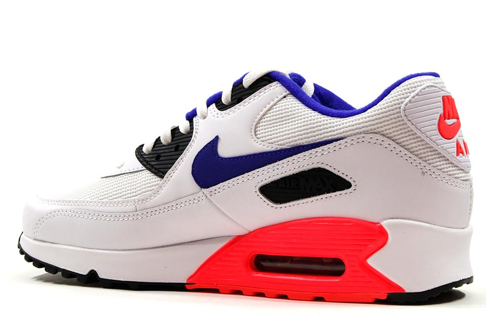 best website 3c32d 919db new zealand nike air max 90 white blue red eb699 cc5d4