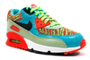 "NIKE AIR MAX 90 PREM MESH (GS) ""Jade/Crimson/Black"""