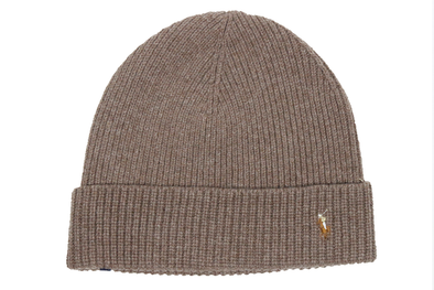 "POLO RALPH LAUREN SIGNATURE PONY WOOL BLEND HAT ""Beige"""