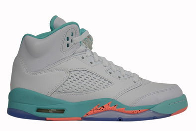 "Nike Air Jordan 5 Retro Kids ""White Aqua Crimson"""