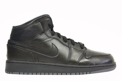 "Nike Air Jordan 1 MID BG (GS) ""Black/ Black"""