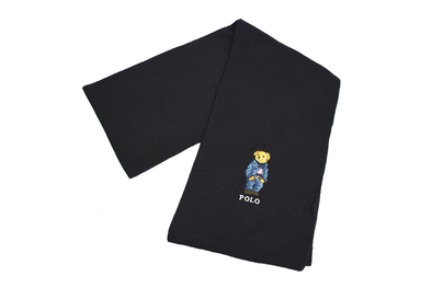 "POLO RALPH LAUREN SCARVES ""BLACK"""
