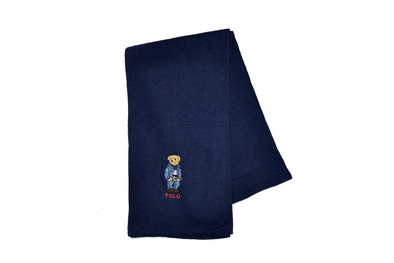 "POLO RALPH LAUREN SCARVES ""NAVY"""