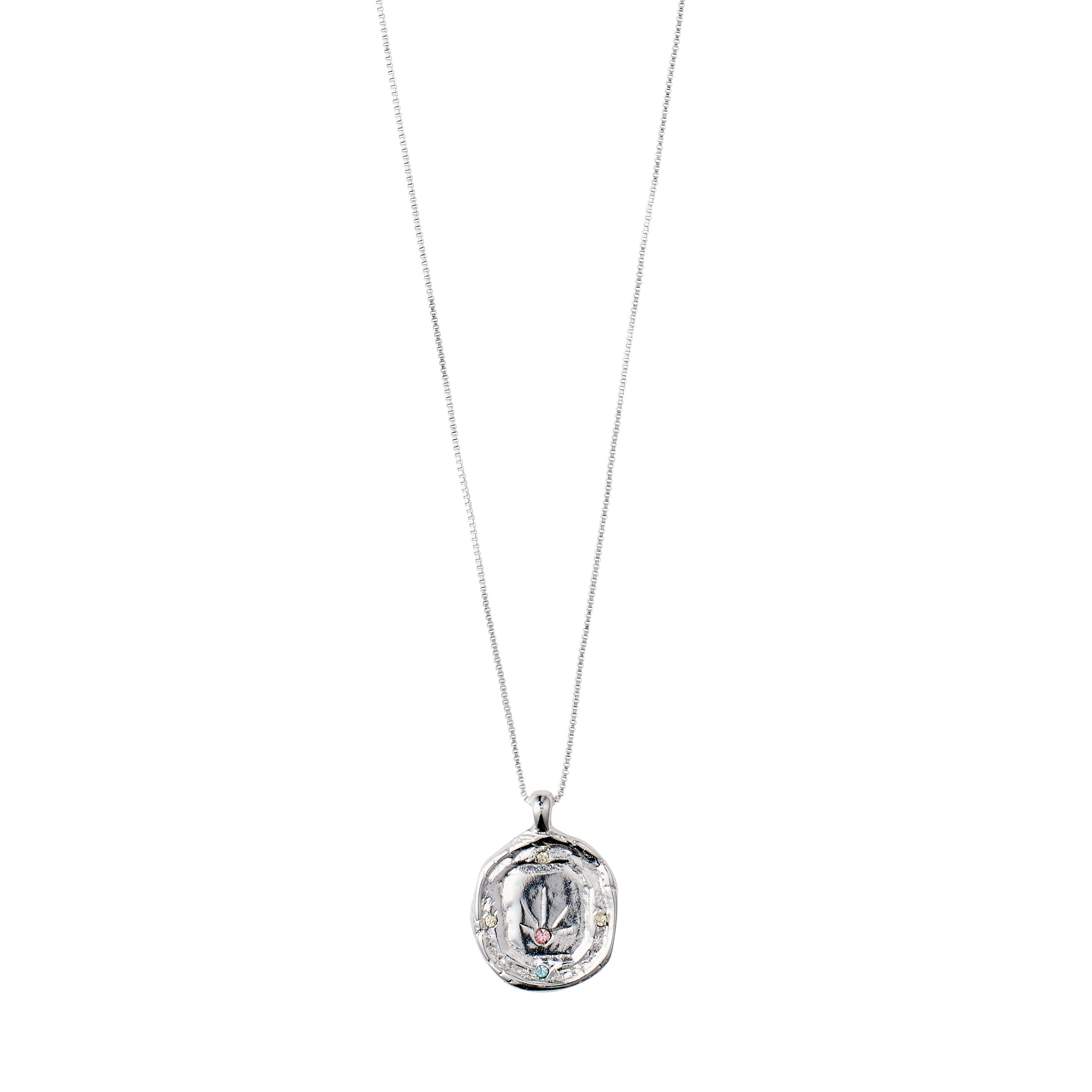 Necklace : Feelings of L.A. : Silver Plated : Multi